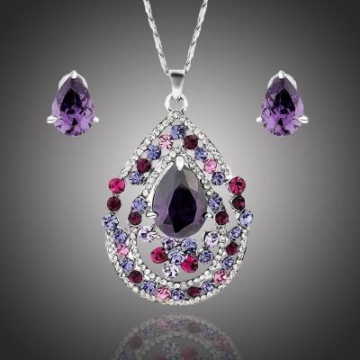 Souprava náhrdelníku a náušnic Swarovski Elements Noblesse