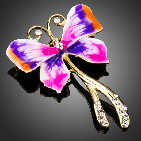 Brož Swarovski Elements Farfallita - motýl