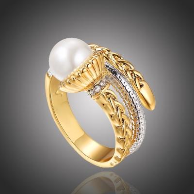 Exkluzivní prsten s perlou a zirkony Caivano