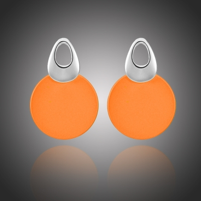 Náušnice Cerchio Arancione - geometrický tvar