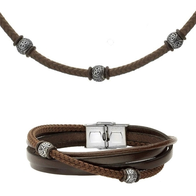 Souprava pánského náhrdelníku a náramku Serginio, chirurgická ocel