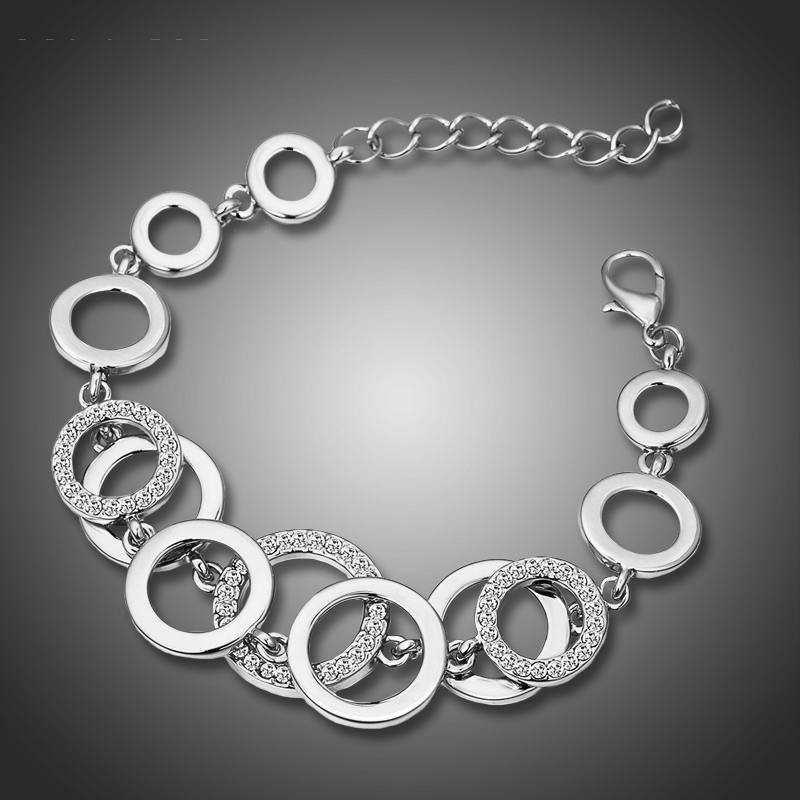 Náramek Swarovski Elements Oberto Silver