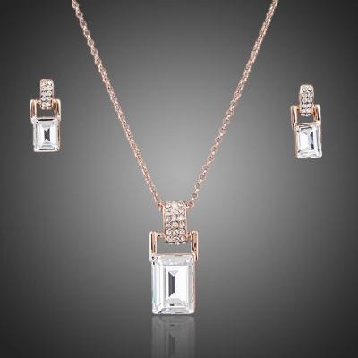Souprava náhrdelníku a náušnic Swarovski Elements Bellini