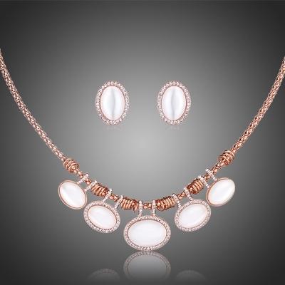 Souprava náhrdelníku a náušnic Swarovski Elements s opálem Anastasie