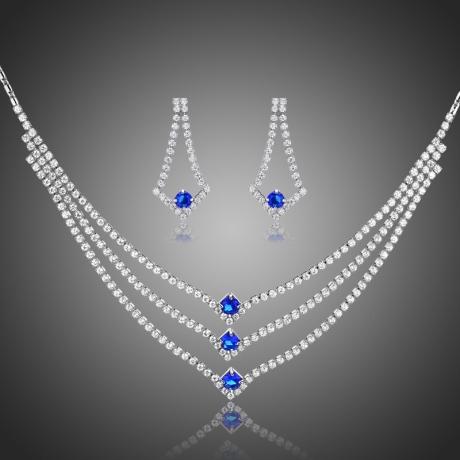 Souprava náhrdelníku a náušnic Swarovski Elements Spinia