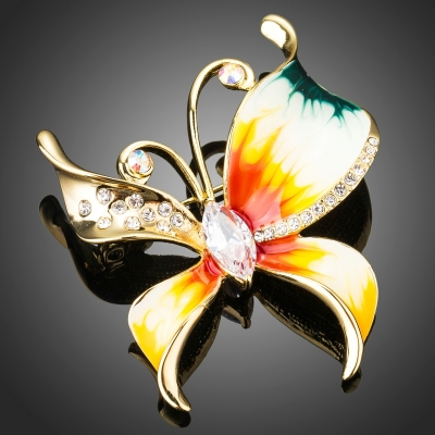 Brož Swarovski Elements Anastisia - motýl