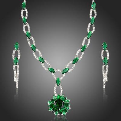 Exkluzivní souprava náhrdelníku a náušnic Swarovski Elements Alemannia
