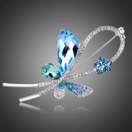 Brož Swarovski Elements Gianluca - motýl