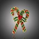 Vánoční brož Swarovski Elements Corinne - vánoční cukrovinka