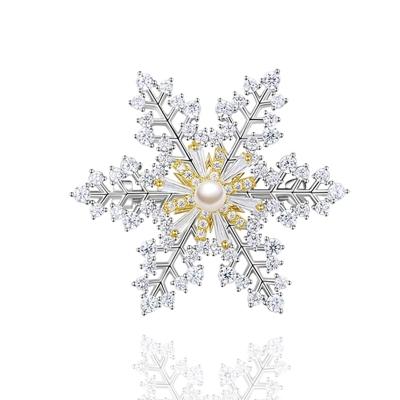 Vánoční brož Swarovski Elements Desireé - sněhová vločka
