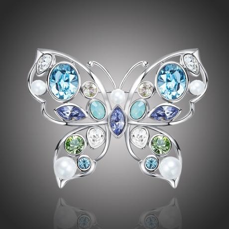 Brož Swarovski Elements Vigia - motýl