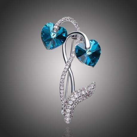 Brož Swarovski Elements Vitalia - květina