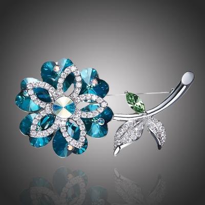 Brož Swarovski Elements Crocetti - květina