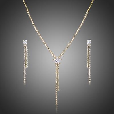 Souprava náhrdelníku a náušnic Swarovski Elements Campanita