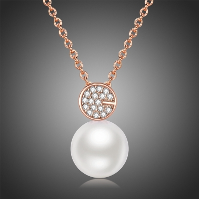 Náhrdelník Swarovski Elements s perlou Gioaccino