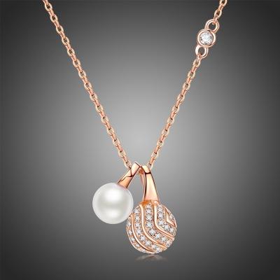 Náhrdelník Swarovski Elements s perlou Viteri