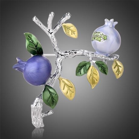 Brož Swarovski Elements Pomegranate - granátové jablko