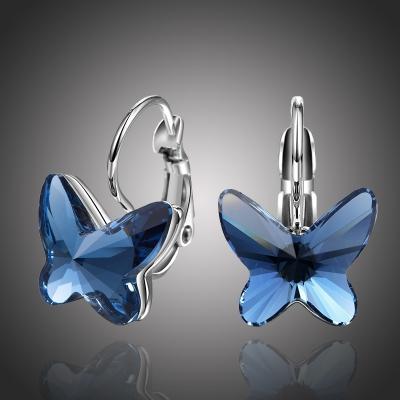 Náušnice Swarovski Elements Montanari modré - motýlek