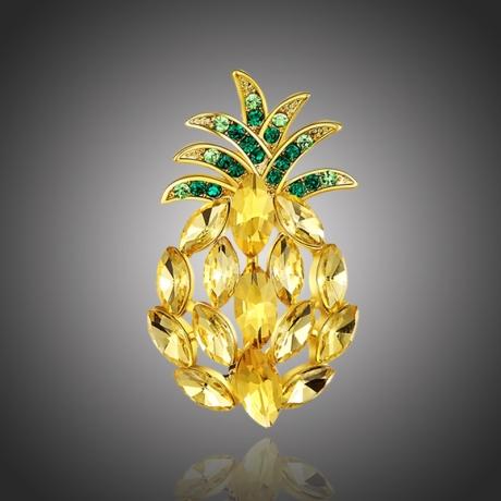 Brož Swarovski Elements Viaranita - ananas