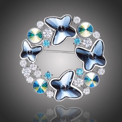 Brož Swarovski Elements Pesariesi- motýl