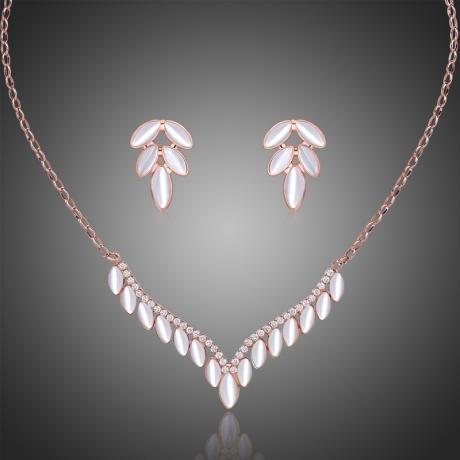 Souprava náhrdelníku a náušnic Swarovski Elements Brunettia