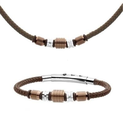 Souprava pánského náhrdelníku a náramku Heinz, chirurgická ocel