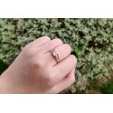 Zásnubní pozlacený prsten Pellegrino s 3ct čirým zirkonem