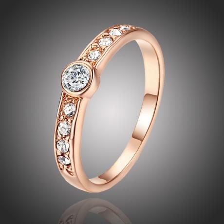 Pozlacený prsten Calligaris Gold se zirkony