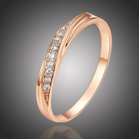 Pozlacený prsten Enzio se zirkony