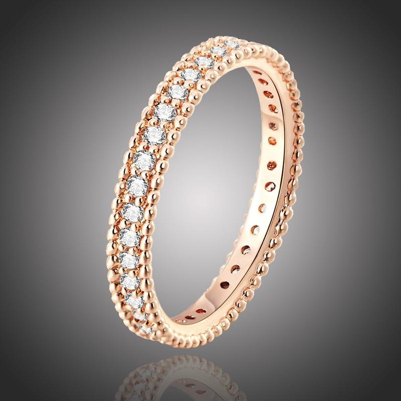 Pozlacený prsten Marcio se zirkony