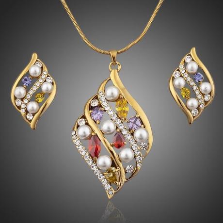 Souprava náhrdelníku a náušnic Swarovski Elements  Adimari