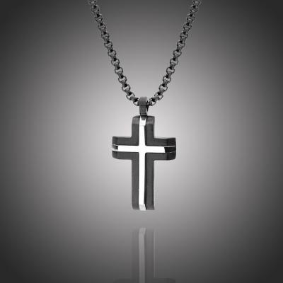 Pánský náhrdelník Enrico chirurgická ocel - kříž