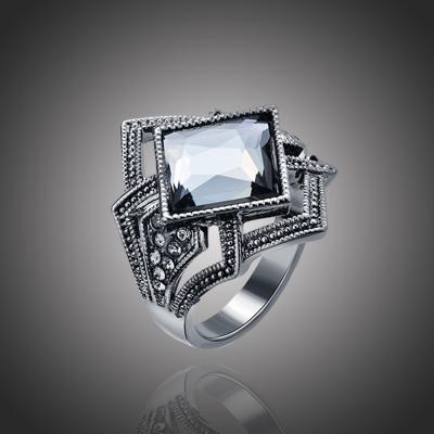 Prsten Swarovski Elements Beauté Noire - vintage