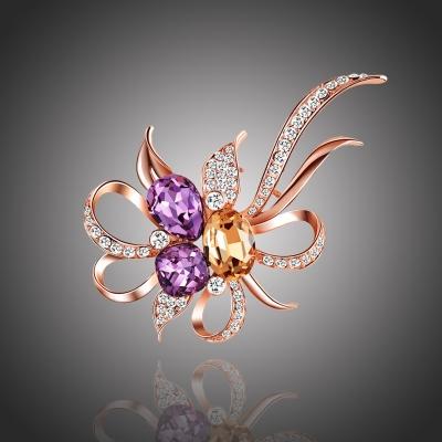 Exkluzivní brož Swarovski Elements Manfredonia - květina