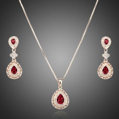 Souprava náhrdelníku a náušnic Swarovski Elements Notaria