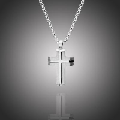 Pánský náhrdelník Alberico chirurgická ocel - kříž
