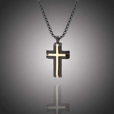 Pánský náhrdelník Robertino chirurgická ocel - kříž