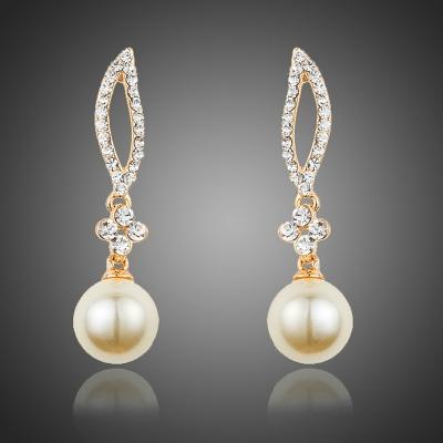 Náušnice Swarovski Elements Frida s perlou