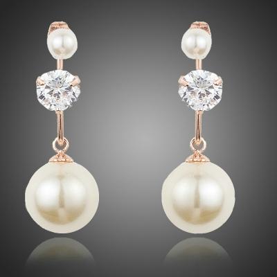Náušnice Swarovski Elements s perlou Costanza