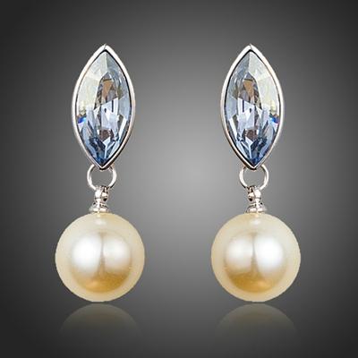 Náušnice Swarovski Elements s perlou Cantisa