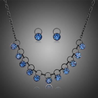Souprava náhrdelníku a náušnic Swarovski Elements Salvia