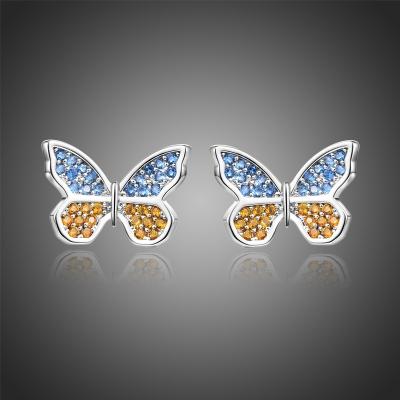 Náušnice Swarovski Elements Ambrogino - motýlek