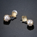 Pozlacené náušnice s perlou Angelleta