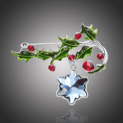 Vánoční brož Swarovski Elements Benedetta - vánoční větvička
