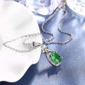 Náhrdelník Swarovski Elements Santini Smaragd