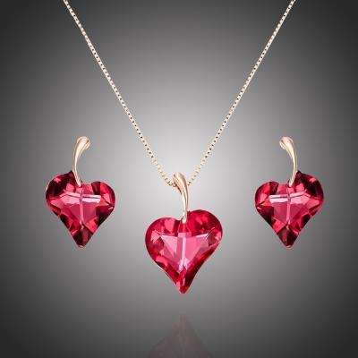 Exkluzivní souprava šperků Swarovski Elements Valentina - srdíčko