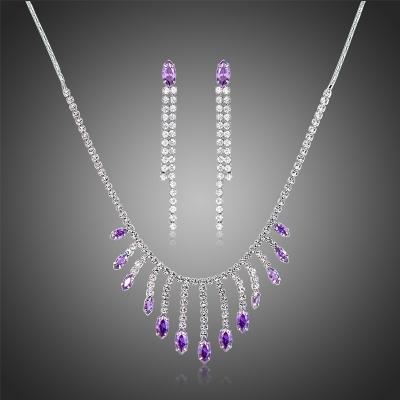 Souprava náhrdelníku a náušnic Swarovski Elements Serena