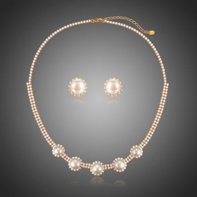 Souprava náhrdelníku a náušnic Swarovski Elements Trinidad
