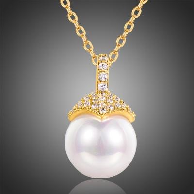 Náhrdelník s perlou a krystaly Christian