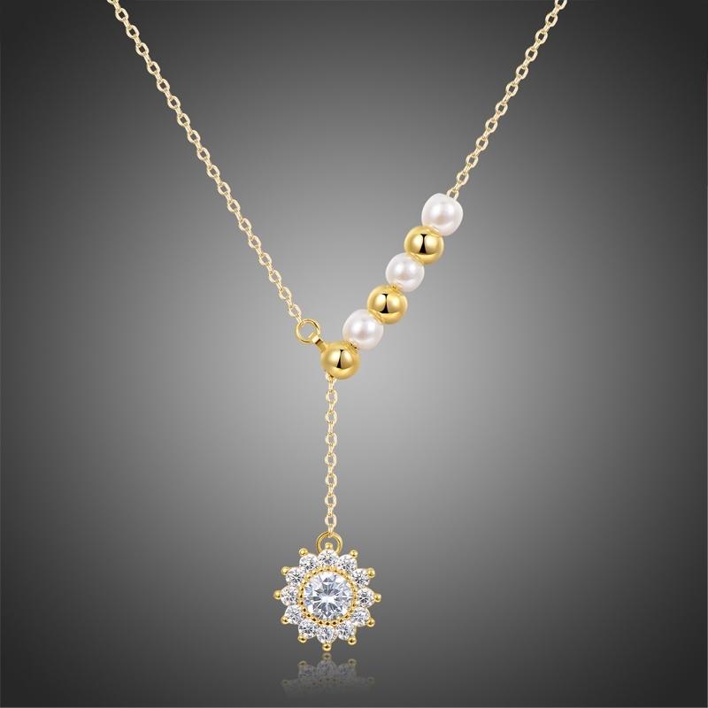 Náhrdelník Swarovski Elements s perlou Violtorini